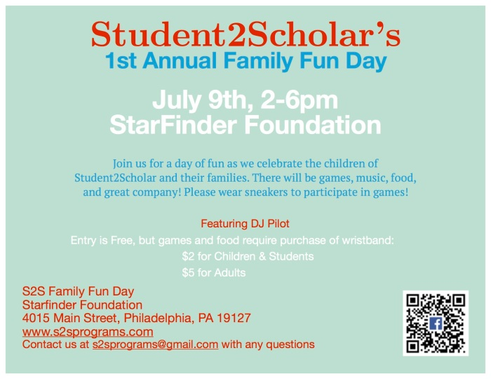 Flyer for s2s Family Fun day